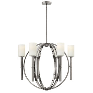 Margeaux Polished Nickel Six Light Chandelier