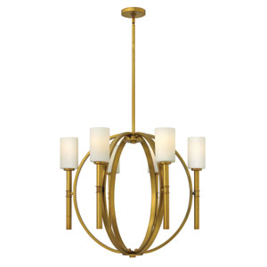 Margeaux Vintage Brass Six-Light Chandelier