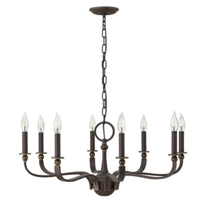 Ruthorford Oil Rubbed Bronze Eight-Light Chandelier