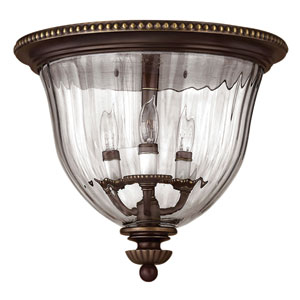 Oxford Small Olde Bronze Flush Mount Ceiling Light