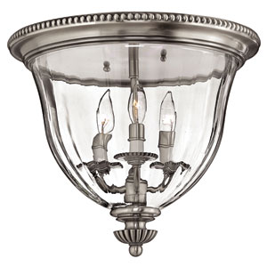 Oxford Small Pewter Flush Mount Ceiling Light
