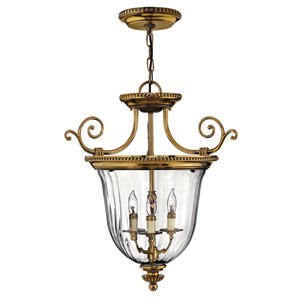Oxford Small Burnished Brass Urn Pendant