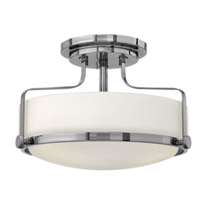 Harper Chrome 14.5-Inch Three-Light Semi-Flush Mount