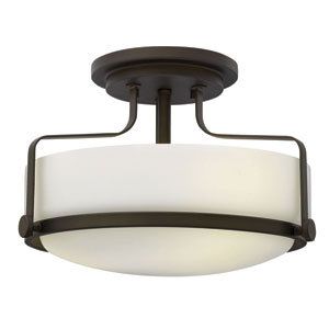 Harper Oil Rubbed Bronze Two Light LED Foyer Semi Flush