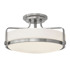Harper Brushed Nickel Semi Flush Mount