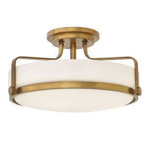Harper Heritage Brass 18-Inch Semi Flush Mount