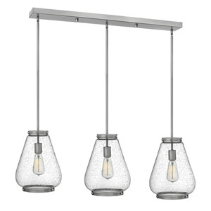Finley Brushed Nickel 40-Inch Three-Light Pendant