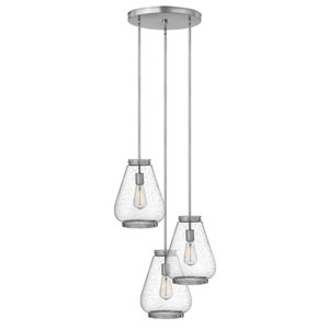 Finley Brushed Nickel 21-Inch Three-Light Pendant