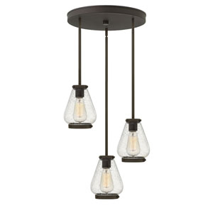 Finley Oil Rubbed Bronze 17-Inch Three-Light Pendant