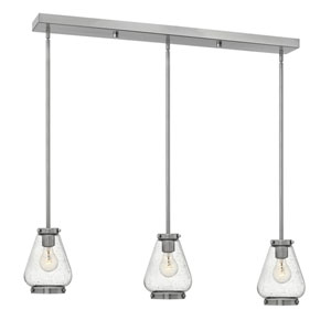 Finley Brushed Nickel 36-Inch Three-Light Pendant