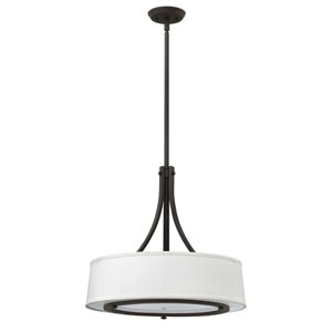 Harrison Buckeye Bronze 20-Inch Three-Light Foyer Pendant