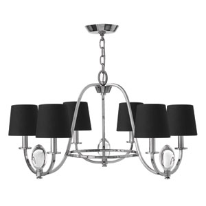 Marielle Chrome Six-Light Chandelier