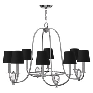 Marielle Chrome Eight-Light Chandelier