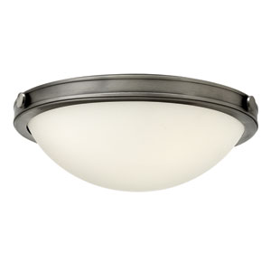Maxwell Antique Nickel 14-Inch Two-Light Flush Mount
