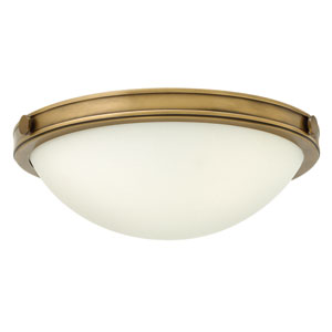 Maxwell Heritage Brass 14-Inch Two-Light Flush Mount