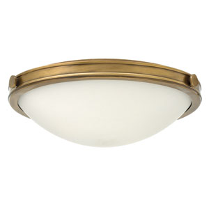 Maxwell Heritage Brass 19-Inch Three-Light Flush Mount