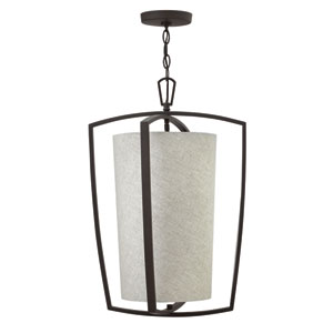 Blakely Buckeye Bronze Three-Light Foyer Pendant