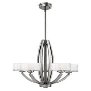 Meridian Brushed Nickel Five-Light Chandelier