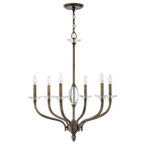 Surrey Oiled Bronze Six-Light Chandelier