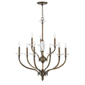 Surrey Oiled Bronze Nine-Light Chandelier