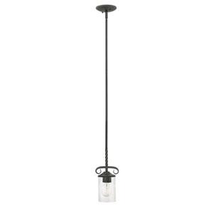 Casa Olde Black 5-Inch One-Light Mini Pendant