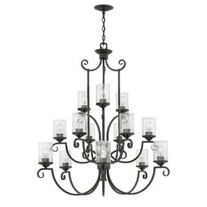 Casa Olde Black 42-Inch Fifteen-Light Three Tier Chandelier