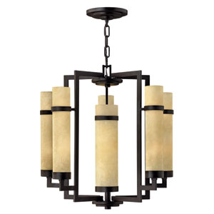 Cordillera Rustic Iron Five-Light Chandelier