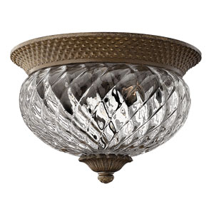 Plantation Pearl Bronze Two-Light Flush Ceiling Light