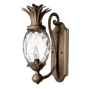 Plantation Pearl Bronze One-Light Wall Sconce