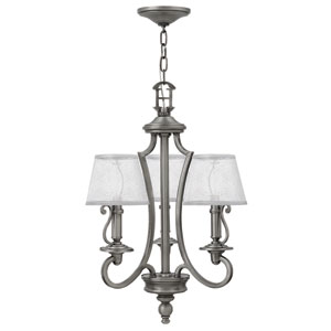 Plymouth Polished Antique Nickel Three-Light Chandelier