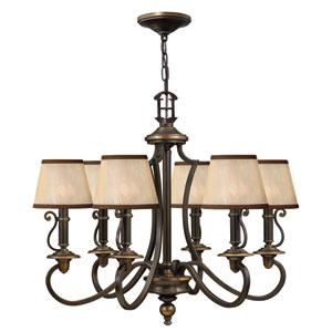Plymouth Olde Bronze 25-Inch Six-Light Chandelier