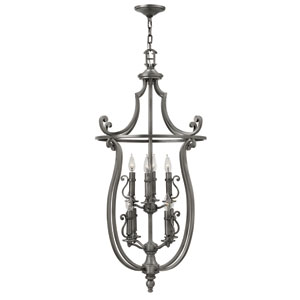 Plymouth Polished Antique Nickel Eight-Light Foyer Pendant