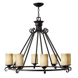 Casa Olde Black Eight-Light Chandelier