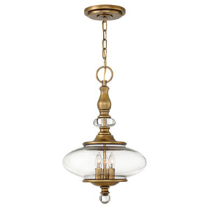 Wexley Heritage Brass Three-Light Pendant