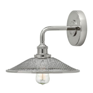 Rigby Polished Nickel One-Light Sconce