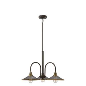 Rigby Buckeye Bronze Three-Light Chandelier