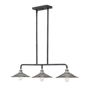 Rigby Aged Zinc Three-Light Island Pendant