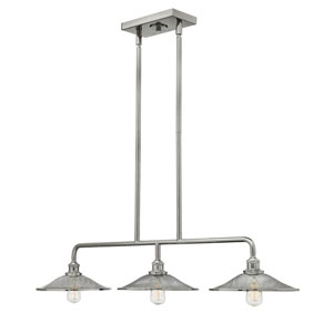 Rigby Polished Nickel Three-Light Island Pendant