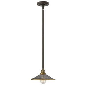 Rigby Buckeye Bronze One-Light Mini Pendant