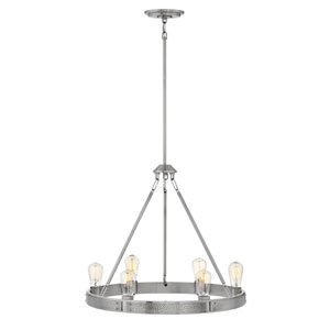 Everett Brushed Nickel Six-Light Chandelier