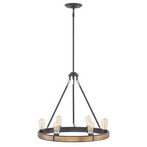 Everett Bronze Six-Light Chandelier