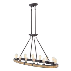 Everett Bronze Twelve-Light Linear Pendant