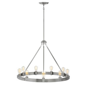 Everett Brushed Nickel Nine-Light Chandelier