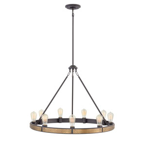 Everett Bronze Nine-Light Chandelier