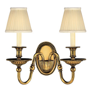 Oxford Burnished Brass Two-Light Sconce