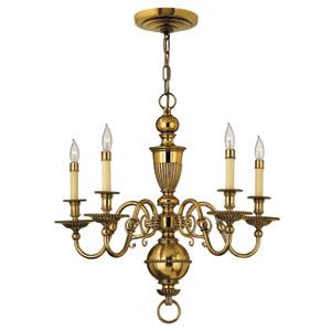 Cambridge Burnished Brass Five-Light Chandelier