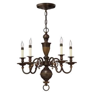 Cambridge Olde Bronze Five-Light Chandelier