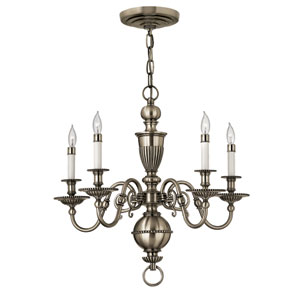 Cambridge Pewter Five-Light Chandelier