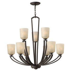 Parker Buckeye Bronze Twelve-Light Chandelier