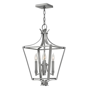 Fleming Polished Antique Nickel 12-Inch Four-Light Foyer Pendant